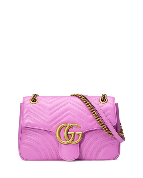 GG Marmont 2.0 Medium Quilted Shoulder Bag, Bright Pink