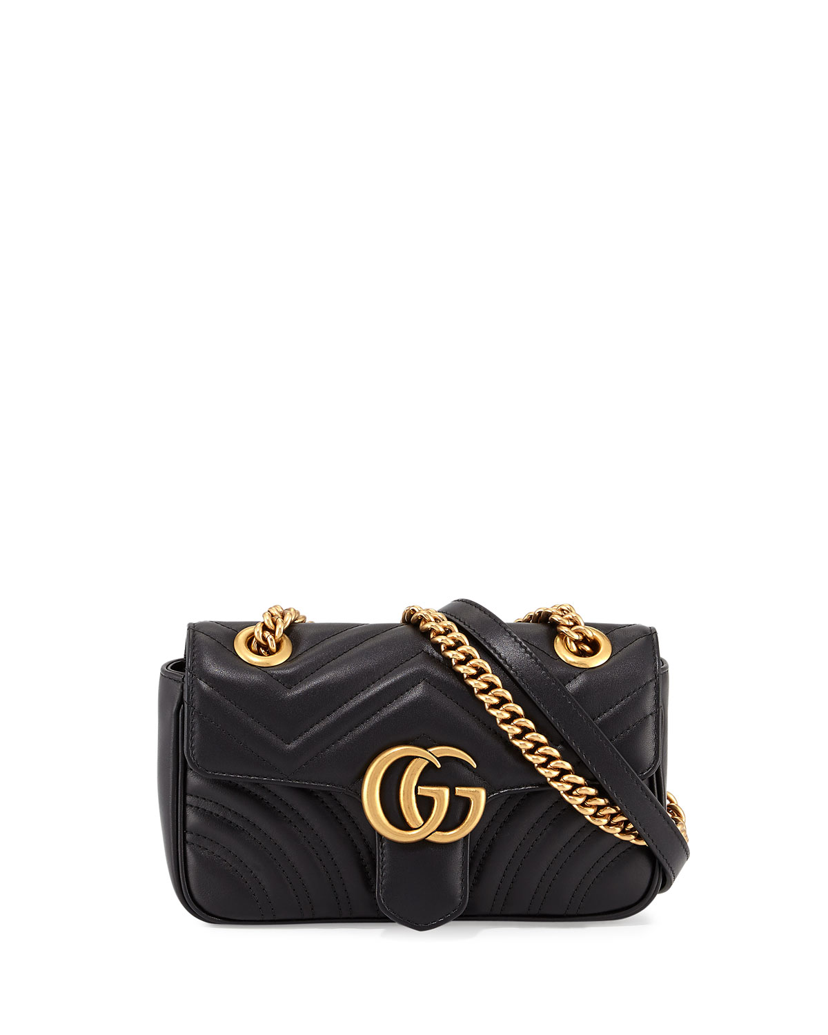51d77d1a030d Gucci GG Marmont 2.0 Mini Quilted Leather Crossbody Bag, Black ...