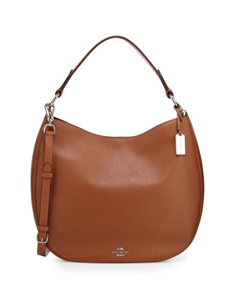 CoachNomad Leather Hobo Bag, Saddle