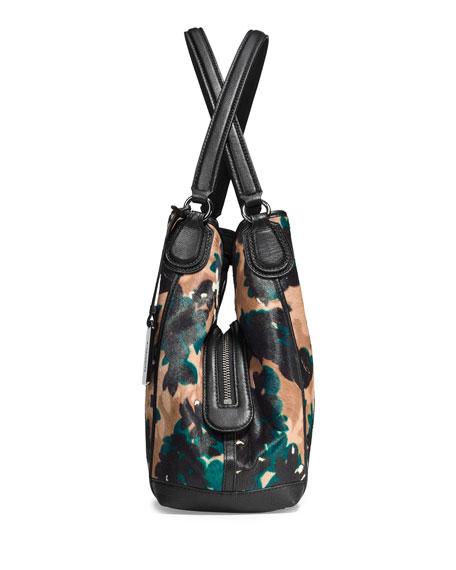 E Calf Hair Shoulder Bag Scatter Leafwalnutmulti Online Cheap