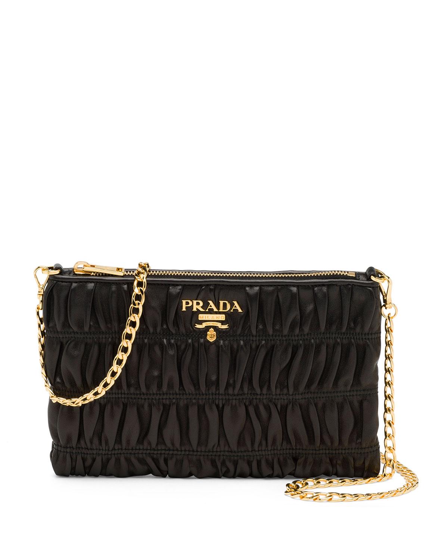 779e8cd70928 Prada Napa Gaufre Chain Shoulder Bag   Neiman Marcus