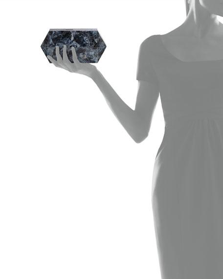 Annabelle Bullet Minaudiere, Black Agate