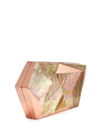 Azura Asymmetric Minaudiere, Rose Copper