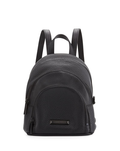 Sloane Mini Leather Backpack, Black