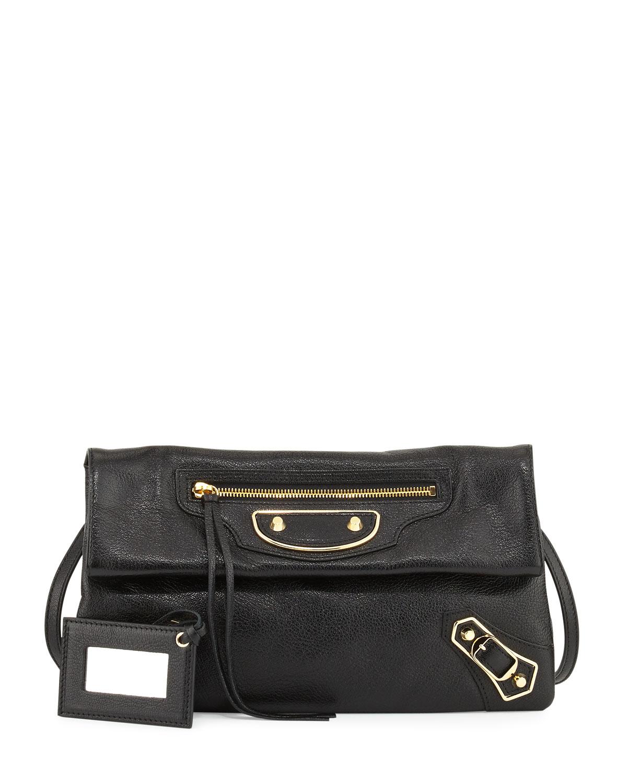 5c38b9e29c Balenciaga Metallic Edge Lambskin Envelope Clutch Bag
