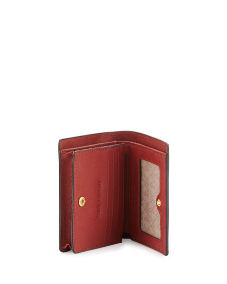 529bc9d578e4 MICHAEL Michael Kors Jet Set Travel Saffiano Carryall Card Case, Brick