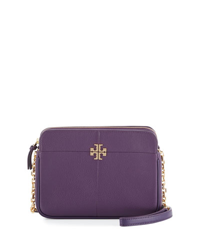 Ivy Leather Crossbody Bag, Night Shade