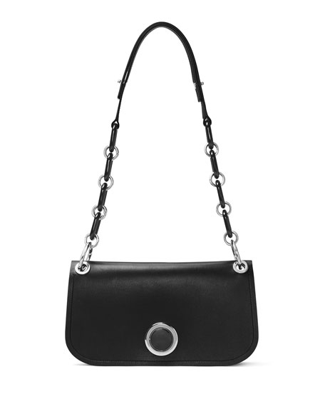 Michael Kors Goldie East-West Flap Shoulder Bag, Black