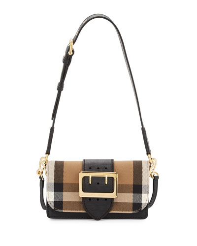 Bridle Small House Check Belt Shoulder Crossbody Bag, Black