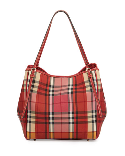 Canterbury Small Horseferry Check Tote Bag, Parade Red