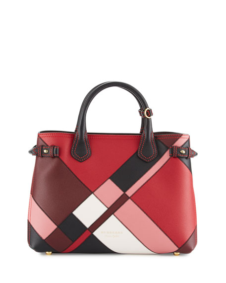 Burberry Banner Medium Patchwork House Check Tote Bag,