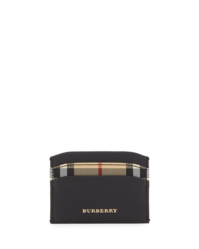 Izzy Horseferry Check Card Case, Black