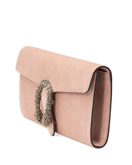Dionysus Suede Clutch Bag