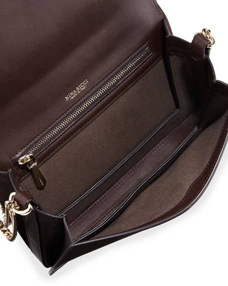 Dido Small Full-Flap Crossbody Bag, Brown/Green/Blue