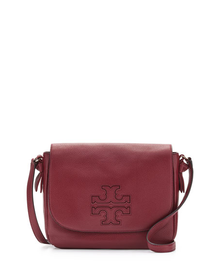 Harper Leather Messenger Bag, Dark Merlot