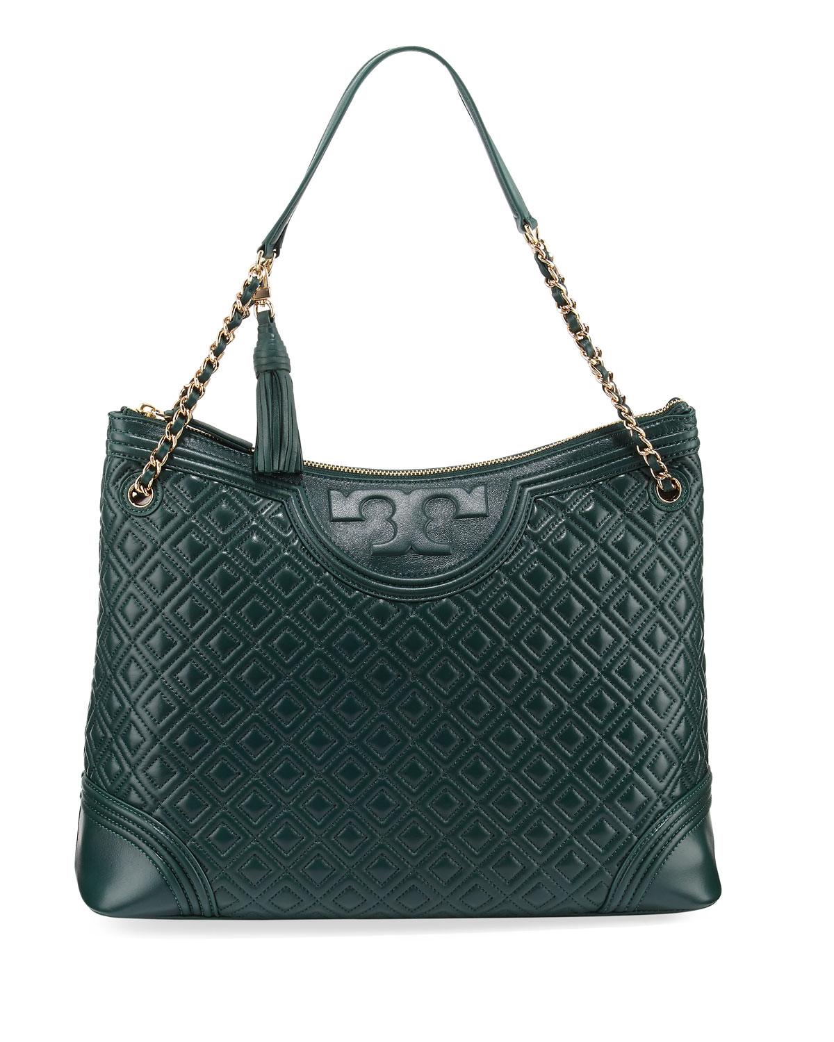 8977c26a4791 Tory Burch Fleming Quilted Leather Tote Bag