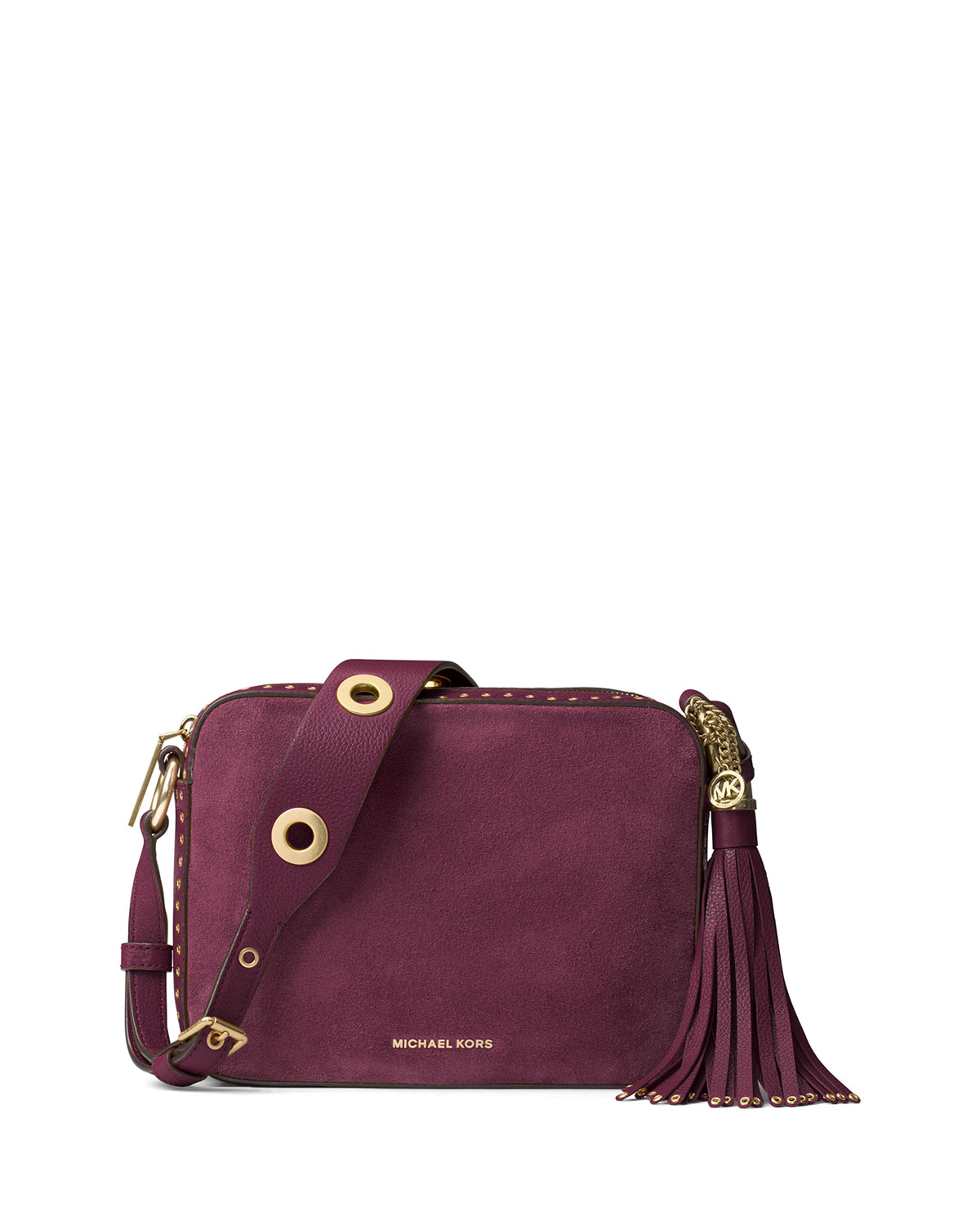 e8de0275ff5917 MICHAEL Michael Kors Brooklyn Large Grommet Camera Bag, Plum ...