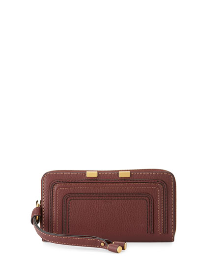 Chloe Marcie Leather Phone Wristlet