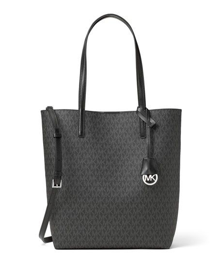 Hayley Large North-South Logo-Print Tote Bag