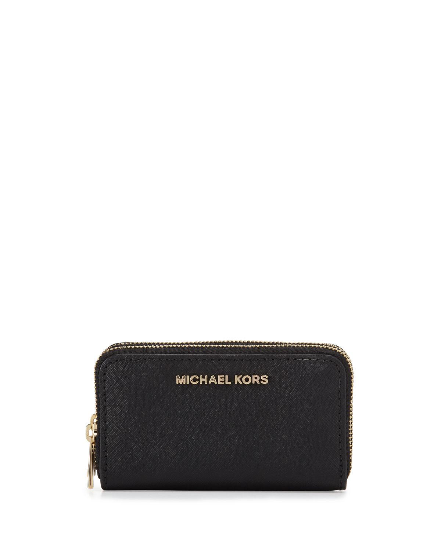 555c46a3c3cc MICHAEL Michael Kors Jet Set Travel Double-Zip Cardholder | Neiman ...