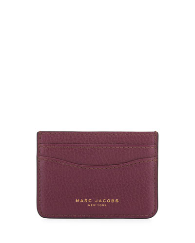 Gotham Leather Card Case, Iris