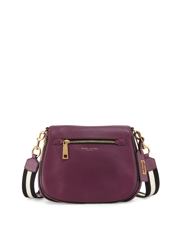 5316b253f2 Marc Jacobs Gotham Leather Saddle Bag, Iris   Neiman Marcus