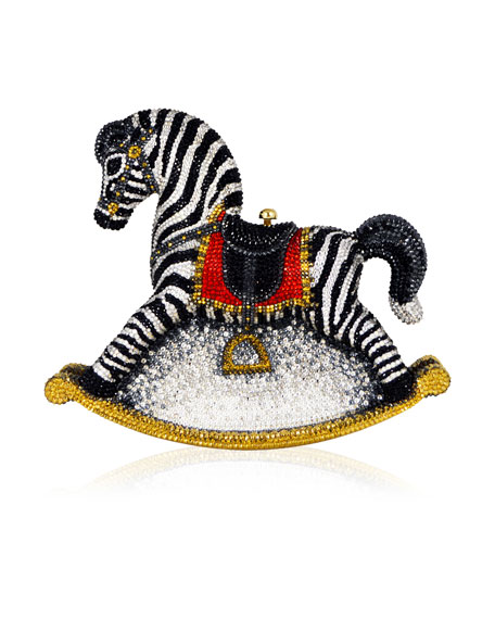 Judith Leiber Couture Toby Zebra Rocking Horse Evening