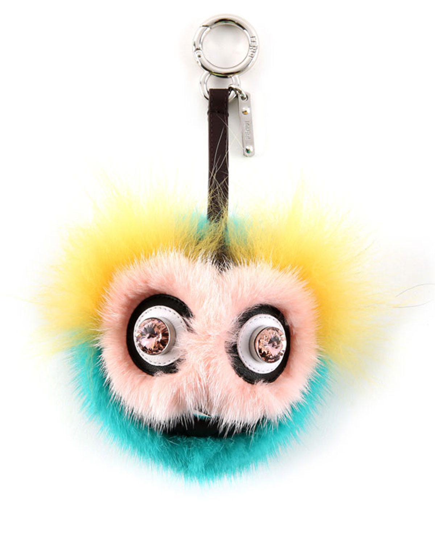 Fendi Dazzeling Bag Bug Fur Charm, Pink Yellow Blue   Neiman Marcus fe2129acd3