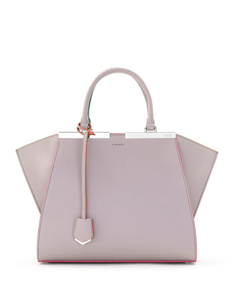 Fendi3Jours Leather Tote Bag, Beige/Pink