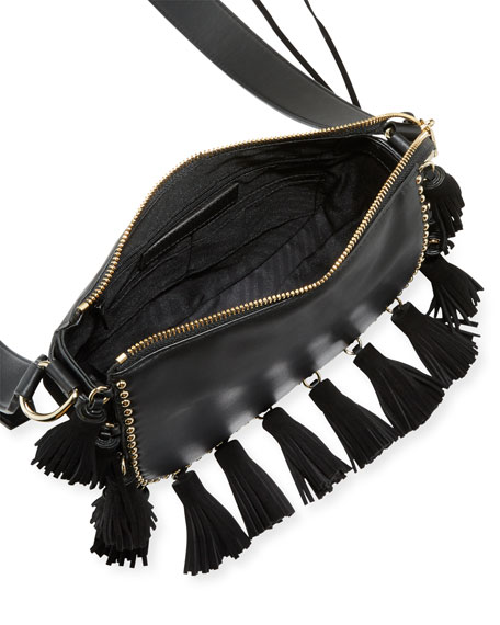 Small Multi-Tassel Saddle Bag