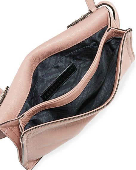 Regan Small Leather Clutch Bag, Vintage Pink
