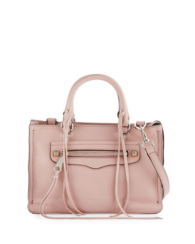 Regan Micro Leather Satchel Bag, Tawny Port