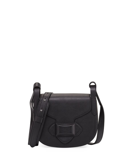 Michael Kors Daria Small Leather Crossbody Bag, Black