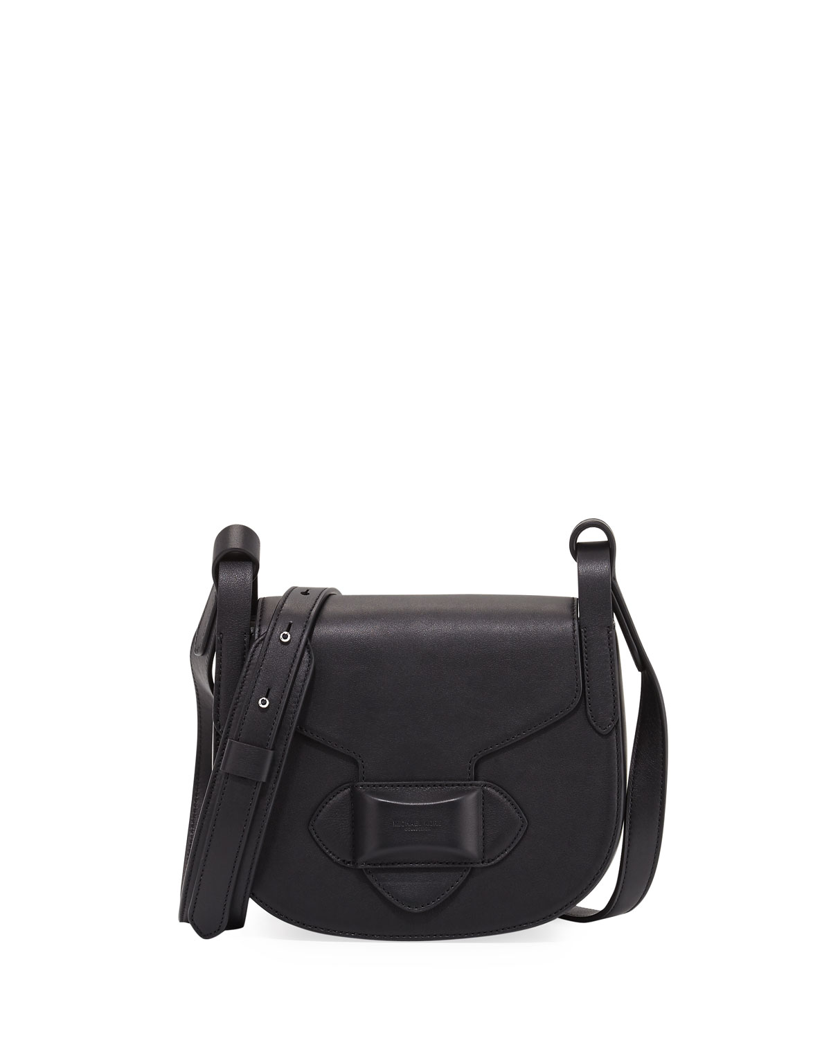 7a230333f0 Michael Kors Daria Small Leather Crossbody Bag, Black | Neiman Marcus