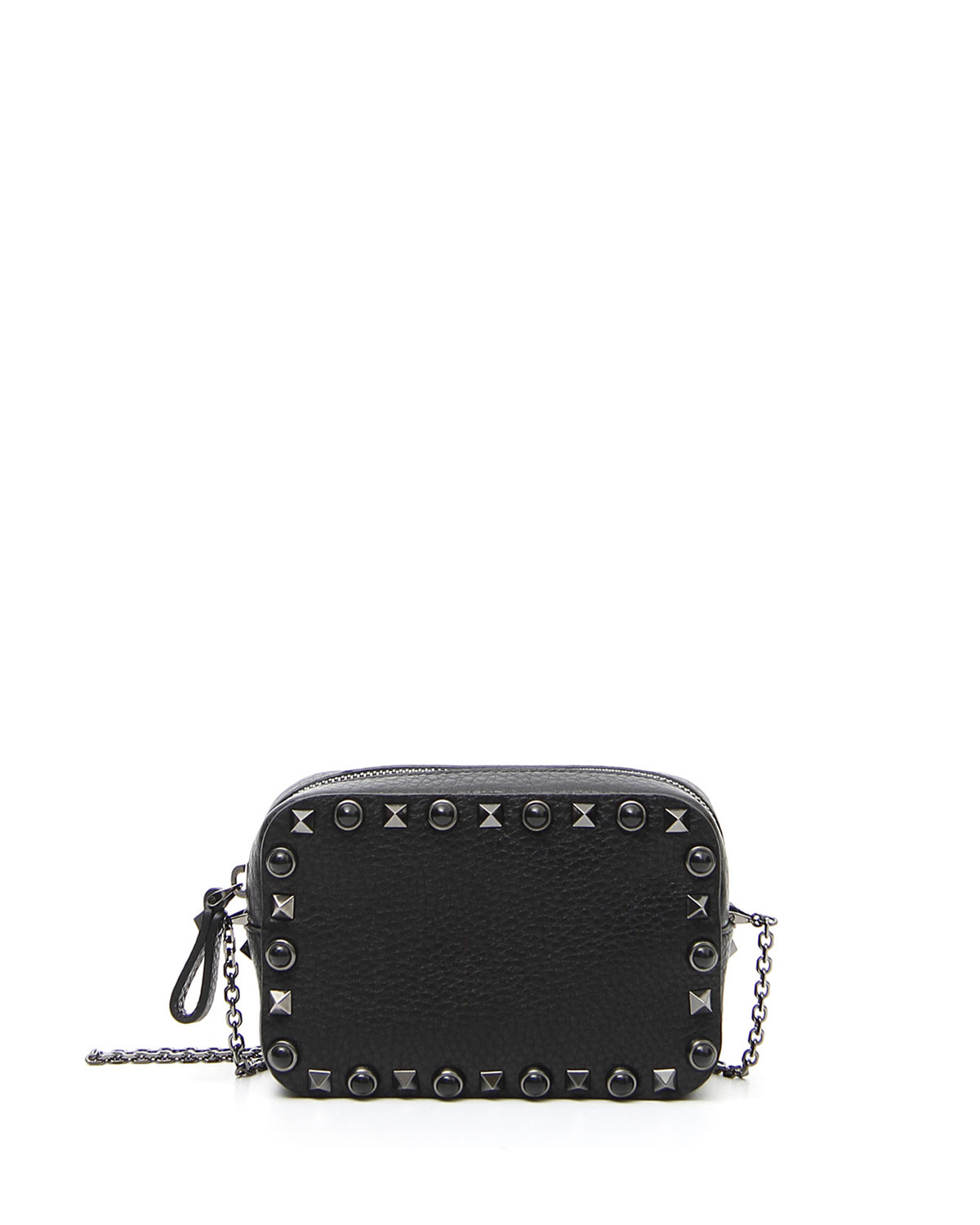 f9df354e06cf Valentino Garavani Rockstud Rolling Small Chain Camera Crossbody Bag, Black
