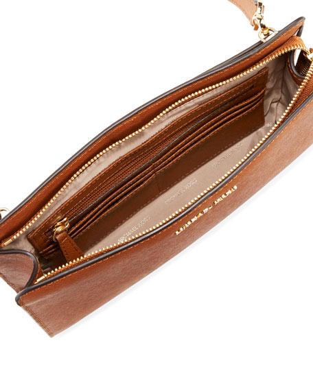Jet Set Large Leather Crossbody Clutch Bag