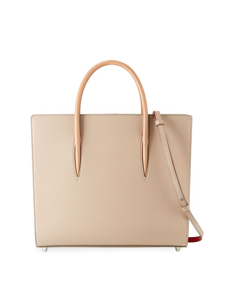 Christian Louboutin Paloma Large Triple-Gusset Tote Bag, Beige