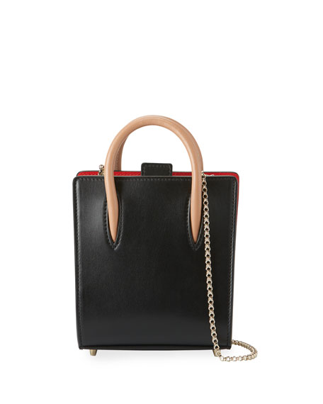 Christian Louboutin Paloma Nano Calf Tote Bag, Black/Brown