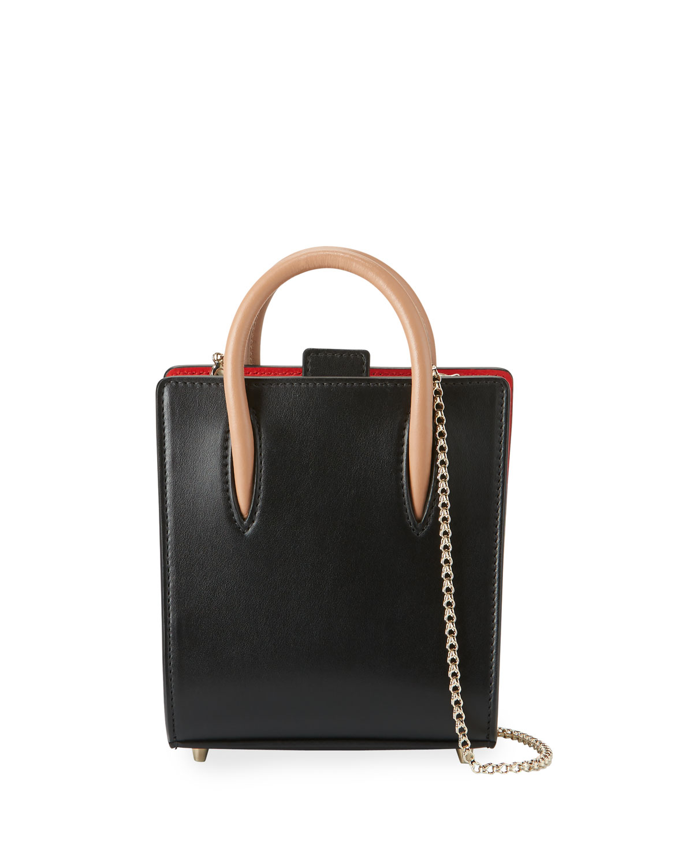 26d4fdc4b36 Paloma Nano Calf Tote Bag, Black/Brown