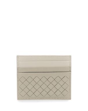 fb90be0949100f Bottega Veneta Intrecciato Leather Card Case, Gray