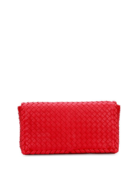 Bottega Veneta Small Intrecciato Flap Convertible Clutch Bag,