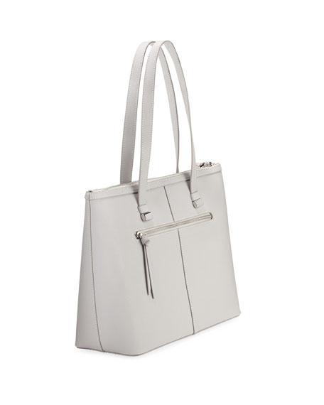 Owen Saffiano Leather Tote Bag, Gray