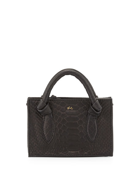 Foley + CorinnaGigi Snake-Embossed Leather Petite Crossbody Bag,