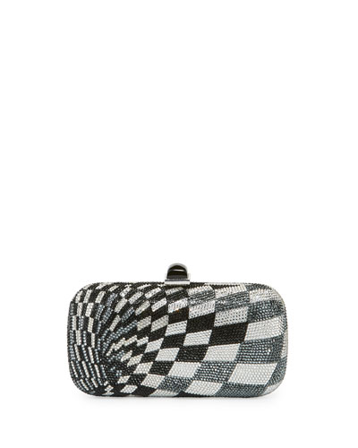 Smithereens Soap Dish Crystal Evening Clutch Bag, Rhine/Multi