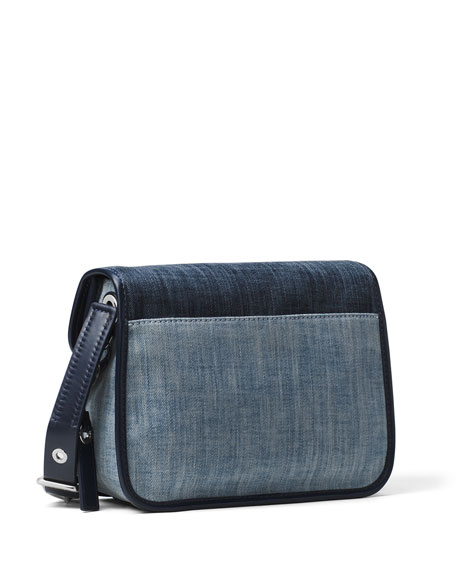 Cooper Medium Denim Messenger Bag