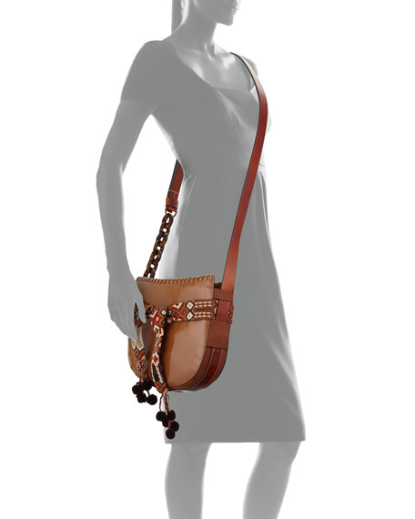 Gemini Small Patent Hobo Bag