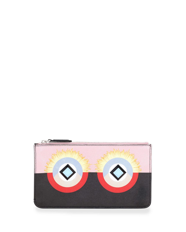 Fendi Monster Flat Zip Pouch Bag 9ac1e3d586931