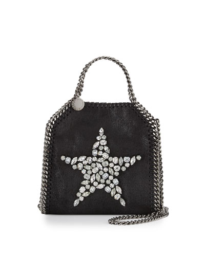 Falabella Tiny Peace Shoulder Bag, Black
