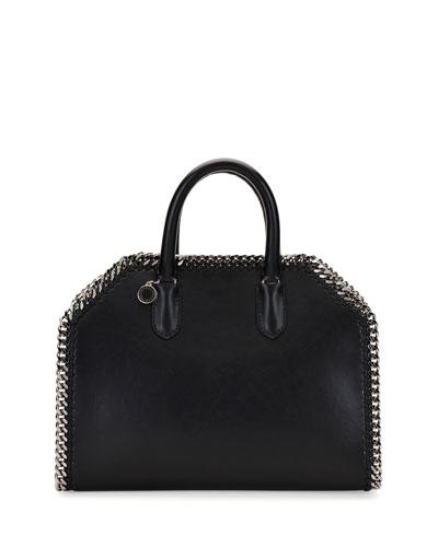Falabella Medium Box Top-Handle Satchel Bag, Black