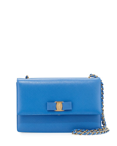 Ginny Vara Medium Shoulder Bag, Blue Indien